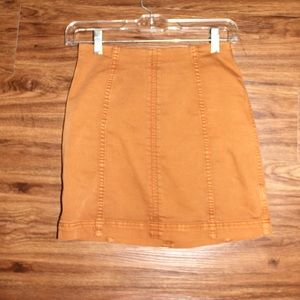 Free People Modern Femme Tan Mini Skirt Size 2